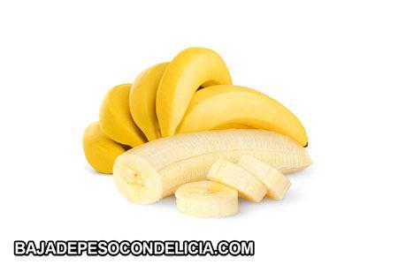Frutas para adelgazar rodajas de plátano maduro