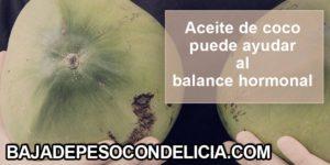 Aceite de coco para nutrir el cerebro además de nutrir el cerebro puede ayudar al balance hormonal