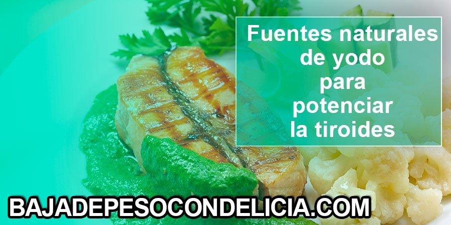 Fuentes naturales de yodo para potenciar la glándula tiroides salmón