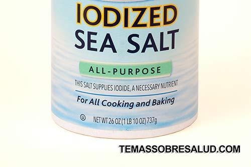 potenciar la glándula tiroides sal marina sin refinar